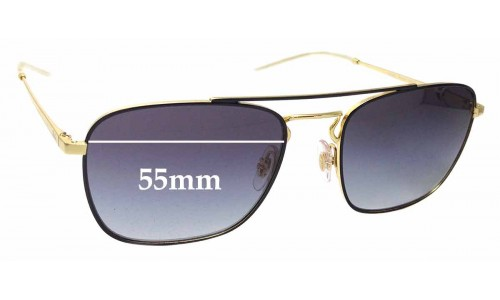 Sunglass Fix Replacement Lenses for Ray Ban RB3588 - 55mm Wide