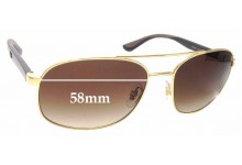 Sunglass Fix Replacement Lenses for Ray Ban RB3593 - 58mm wide