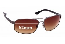 Sunglass Fix Replacement Lenses for Ray Ban RB3604-CH - 62mm Wide