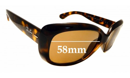 Sunglass Fix Replacement Lenses for Ray Ban RB4101 Jackie Ohh - 58mm Wide