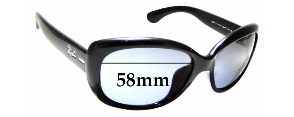 Sunglass Fix Replacement Lenses for Ray Ban Jackie Ohh Asian Fit RB4101F - 58mm Wide