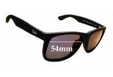 Sunglass Fix Replacement Lenses for Ray Ban RB4165-F  Justin - 54mm wide