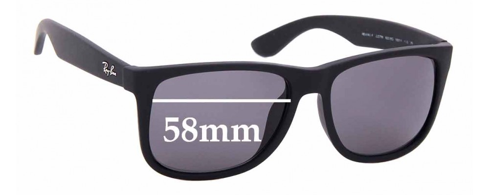 ray ban justin rb4165 replacement lenses polarized