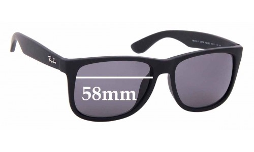Sunglass Fix Replacement Lenses for Ray Ban RB4165-F Justin - 58mm wide