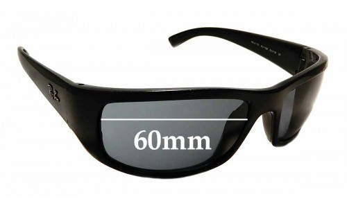 Sunglass Fix Replacement Lenses for Ray Ban RB4176 - 60mm wide