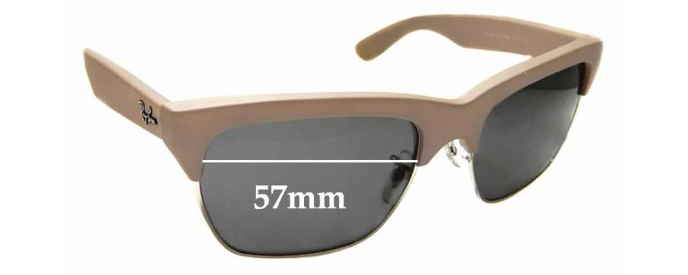 Sunglass Fix Replacement Lenses for Ray Ban RB 4186 - 57mm wide