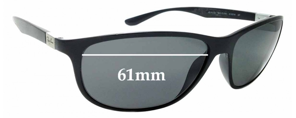 Sunglass Fix Replacement Lenses for Ray Ban 4213 Liteforce - 61mm wide