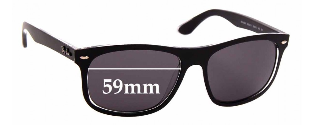 Sunglass Fix Replacement Lenses for Ray Ban RB4226 - 59mm wide