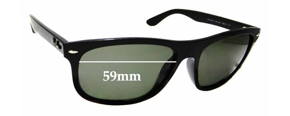 Sunglass Fix Replacement Lenses for Ray Ban RB4226-F - 59mm wide