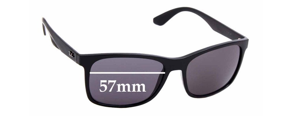 Sunglass Fix Replacement Lenses for Ray Ban RB4232 - 57mm wide