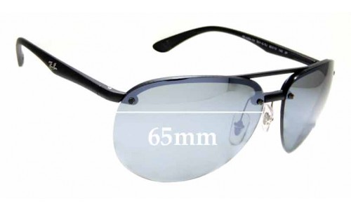 Sunglass Fix Replacement Lenses for Ray Ban RB4239-CH - 65mm across