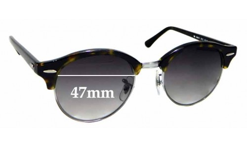 Sunglass Fix Replacement Lenses for Ray Ban RB4246-V - 47mm wide