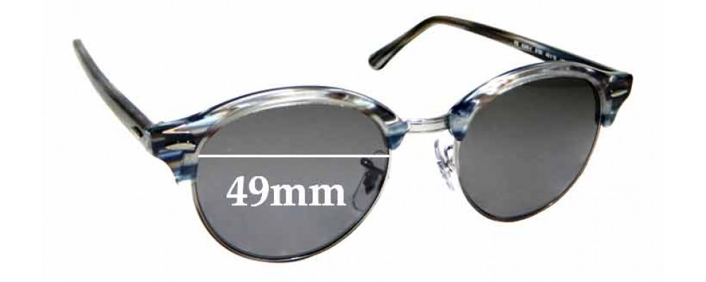 Sunglass Fix Replacement Lenses for Ray Ban RB4246-V - 49mm wide
