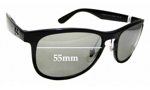 Sunglass Fix Replacement Lenses for Ray Ban RB4263 Chromance - 55mm wide