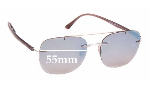 Sunglass Fix Replacement Lenses for Ray Ban RB4280 - 55mm wide