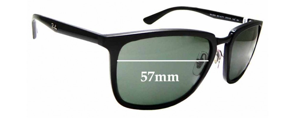 Sunglass Fix Replacement Lenses for Ray Ban RB4303- 57mm wide