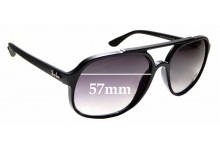 Sunglass Fix Replacement Lenses for Ray Ban RB4312-CH - 57mm wide