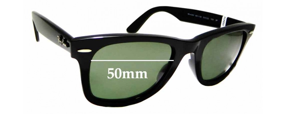 Sunglass Fix Replacement Lenses for Ray Ban RB4340 - 50mm wide