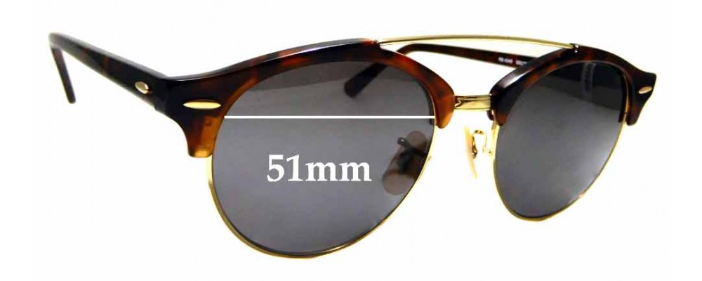 Sunglass Fix Replacement Lenses for Ray Ban RB4346 - 51mm wide