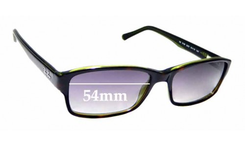 Sunglass Fix Replacement Lenses for Ray Ban RB5169 - 54mm wide