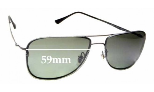Sunglass Fix Replacement Lenses for Ray Ban LightRay RB8054 - 59mm wide
