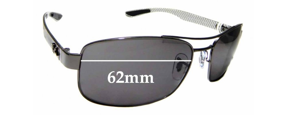 Sunglass Fix Replacement Lenses for Ray Ban RB8318CH Chromance - 62mm wide