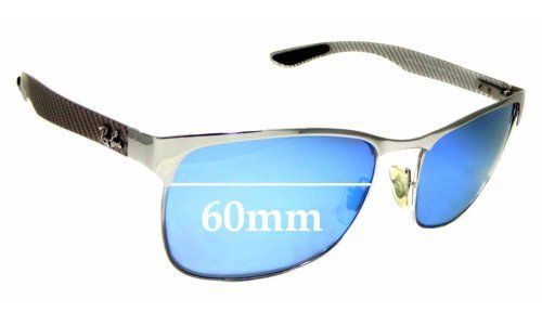 Sunglass Fix Replacement Lenses for Ray Ban RB8319-CH - 60mm wide