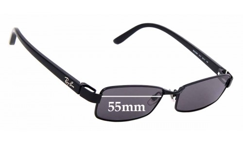 Sunglass Fix Replacement Lenses for Ray Ban RB8726D - 55mm wide