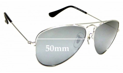 Sunglass Fix Replacement Lenses for Ray Ban Jr RJ9506S - 50mm wide