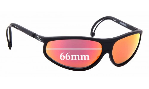 Sunglass Fix Replacement Lenses for Ray Ban B&L Sport Series 2 - 66mm Wide