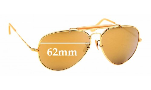 Sunglass Fix Replacement Lenses for Ray Ban B&L The General - 62mm Wide