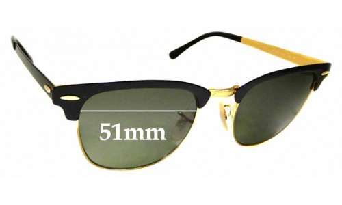Sunglass Fix Replacement Lenses for Ray Ban RB3716 Clubmaster - 51mm Wide