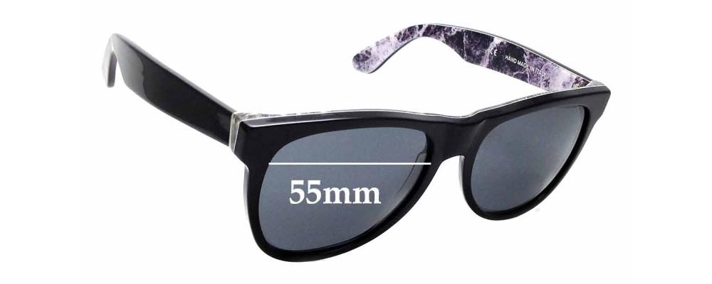 Sunglass Fix Replacement Lenses for Retro Super Future Classic Marmo Alpi 807 - 55mm wide