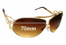Sunglass Fix Replacement Lenses for Roberto Cavalli Beid 850S - 70mm wide