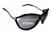 Sunglass Fix New Replacement Lenses for Roberto Cavalli Prasio 449S - 67mm Wide