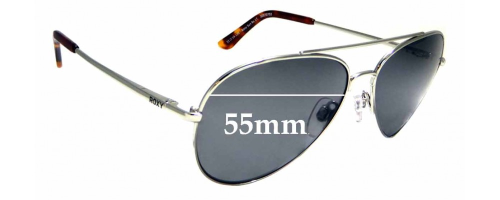 Sunglass Fix New Replacement Lenses for Roxy Sun Rx 17 - 55mm Wide
