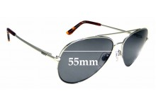 Sunglass Fix Replacement Lenses for Roxy Sun Rx 17 - 55mm wide