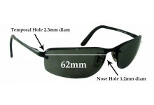 532fea1ebf Sunglass Fix Replacement Lenses for Ray Ban RB3239 - 62mm wide   These  lenses have