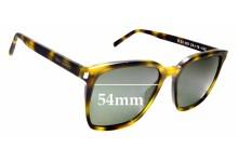 Sunglass Fix Replacement Lenses for Saint Laurent SL 93 - 54mm wide