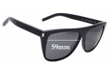 Sunglass Fix Replacement Lenses for Saint Laurent SL 1 - 59mm wide