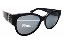 Sunglass Fix New Replacement Lenses for Saint Laurent SL M3 - 55mm Wide