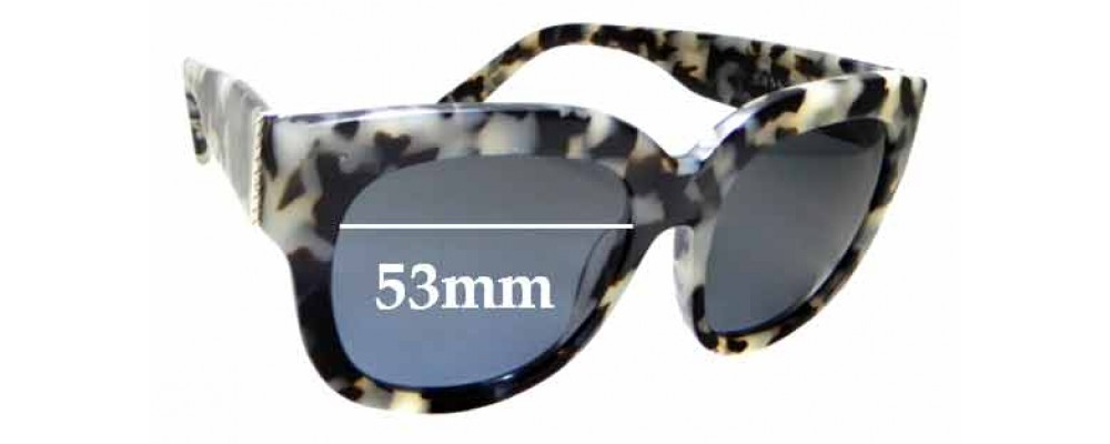 Sunglass Fix New Replacement Lenses for Sass & Bide Arizona - 53mm Wide