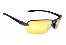 Sunglass Fix Replacement Lenses for Serengeti Strato - 64mm Wide