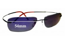 Sunglass Fix Replacement Lenses for Silhouette 7581 WE CAN NOT CREATE LENSES FOR THIS PRODUCT - 54mm Wide