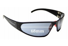Sunglass Fix Replacement Lenses for Snap On Carb - 68mm wide
