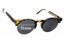 Sunglass Fix New Replacement Lenses for Spitfire England - 51mm Wide