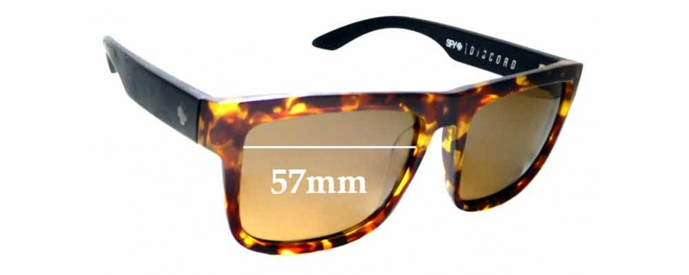 382cb012faa Sunglass Fix Replacement Lenses for Spy Optics Discord - 57mm Wide ...
