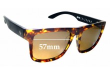 Spy Optics Discord Replacement Sunglass Lenses - 57mm Wide