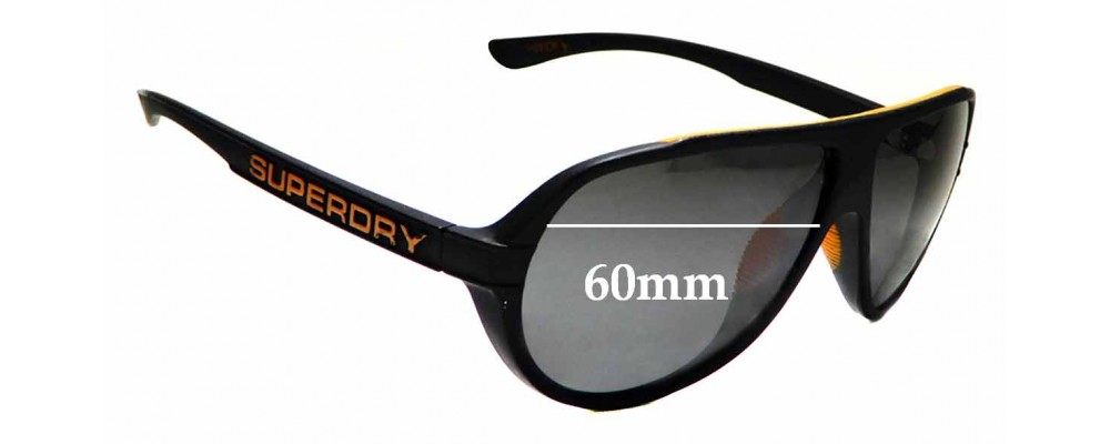 Sunglass Fix Replacement Lenses for Superdry Motor-X - 60mm wide