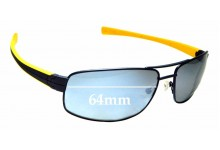Sunglass Fix Replacement Lenses for Tag Heuer Lrs 0251 - 64mm Wide
